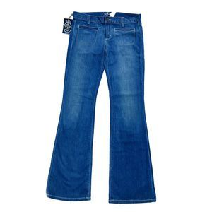 Anlo Medium Wash Hutton Welt Pocket Bootcut Jeans